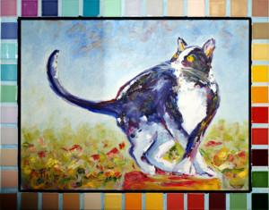 Amico mio - Quadro di un gatto