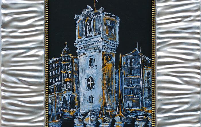 La notte sulla Torretta di Savona - quadri di Savona